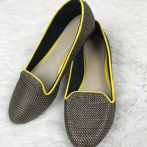 cc905882bf7 Aldo Black Slip-On Smoking Weave Loafer Flat Shoes